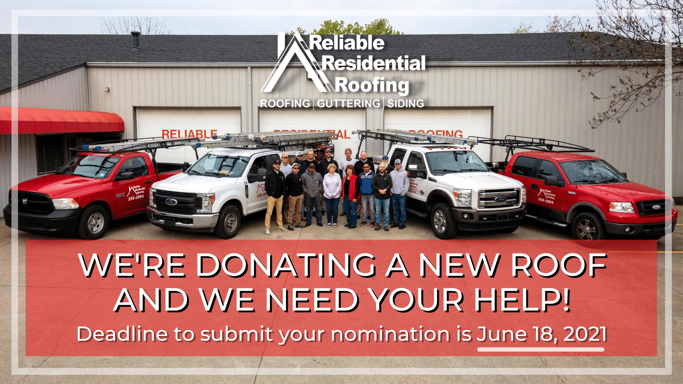 RRR Roof Donation Banner